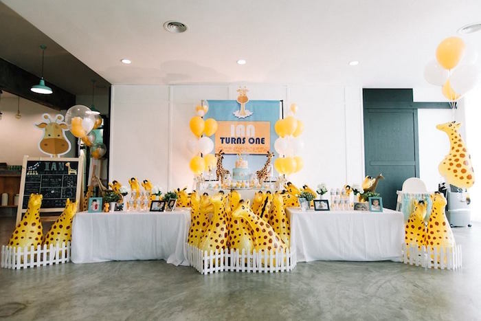 Little Giraffe Birthday Party on Kara's Party Ideas | KarasPartyIdeas.com (17)
