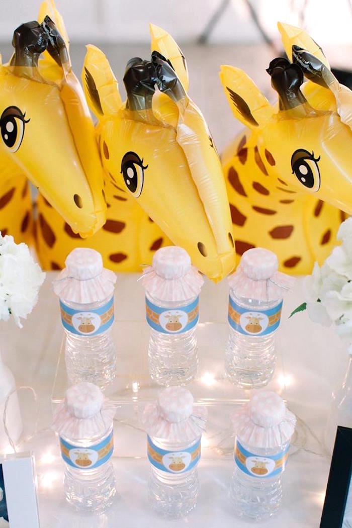 Water bottle from a Little Giraffe Birthday Party on Kara's Party Ideas | KarasPartyIdeas.com (16)