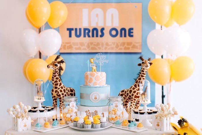 Little Giraffe Birthday Party on Kara's Party Ideas | KarasPartyIdeas.com (14)