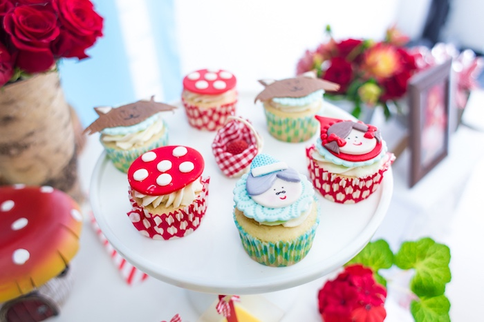 Cupcakes from a Little Red Riding Hood Birthday Party on Kara's Party Ideas | KarasPartyIdeas.com (35)