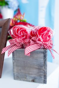 Lollipops tied with ribbon bows from a Little Red Riding Hood Birthday Party on Kara's Party Ideas | KarasPartyIdeas.com (32)