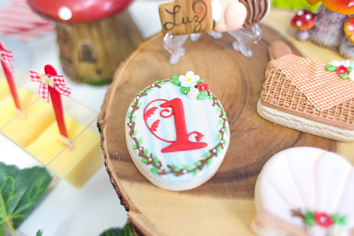 Woodland cookie from a Little Red Riding Hood Birthday Party on Kara's Party Ideas | KarasPartyIdeas.com (50)