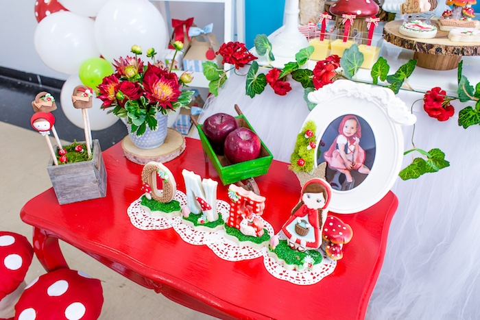 Cookies, sweets and decor from a Little Red Riding Hood Birthday Party on Kara's Party Ideas | KarasPartyIdeas.com (29)