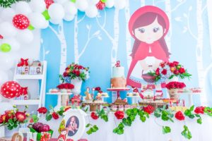 Little Red Dessert Spread from a Little Red Riding Hood Birthday Party on Kara's Party Ideas | KarasPartyIdeas.com (28)