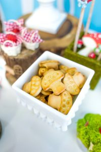 Toadstool cookies from a Little Red Riding Hood Birthday Party on Kara's Party Ideas | KarasPartyIdeas.com (26)