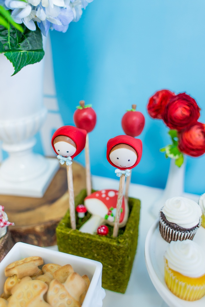 Cake pops from a Little Red Riding Hood Birthday Party on Kara's Party Ideas | KarasPartyIdeas.com (23)