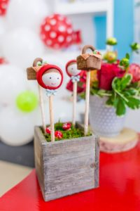 Cake pops from a Little Red Riding Hood Birthday Party on Kara's Party Ideas | KarasPartyIdeas.com (20)