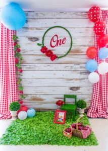 Photo backdrop from a Little Red Riding Hood Birthday Party on Kara's Party Ideas | KarasPartyIdeas.com (16)