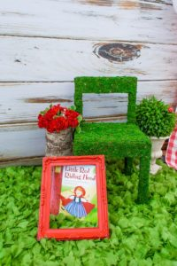 Moss chair from a Little Red Riding Hood Birthday Party on Kara's Party Ideas | KarasPartyIdeas.com (15)
