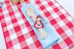 Little Red Riding Hood utensil pack from a Little Red Riding Hood Birthday Party on Kara's Party Ideas | KarasPartyIdeas.com (14)