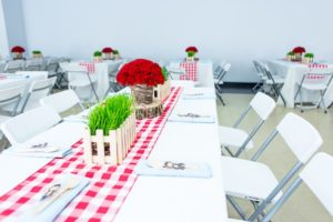 Guest table from a Little Red Riding Hood Birthday Party on Kara's Party Ideas | KarasPartyIdeas.com (5)