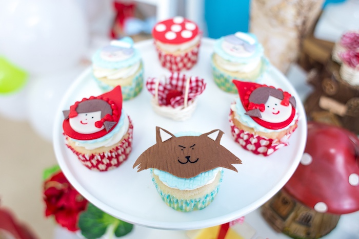 Cupcakes from a Little Red Riding Hood Birthday Party on Kara's Party Ideas | KarasPartyIdeas.com (46)