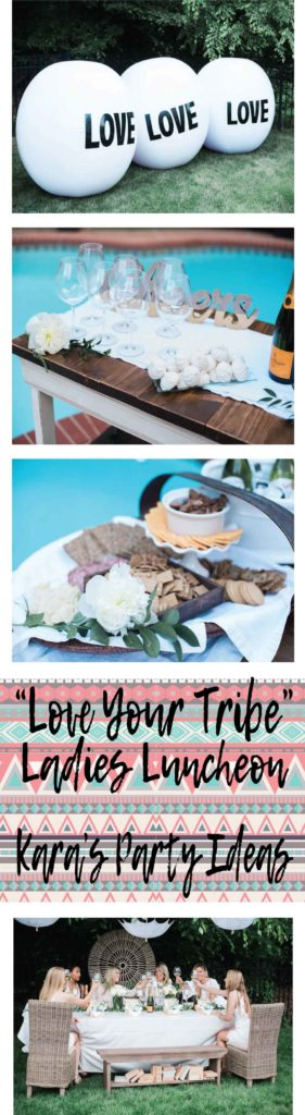 """Love Your Tribe"" Ladies Luncheon Party via Kara's Party Ideas"