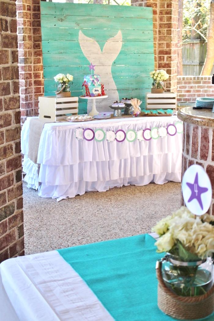 Magical Mermaid Birthday Party on Kara's Party Ideas | KarasPartyIdeas.com (3)