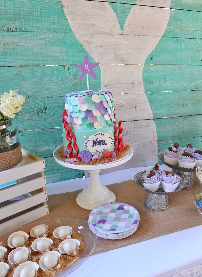 Magical Mermaid Birthday Party on Kara's Party Ideas | KarasPartyIdeas.com (8)