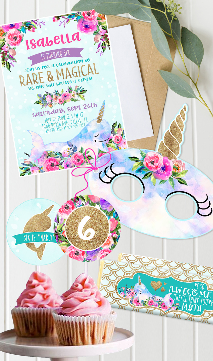 "kara's party ideas magical narwhal ""unicorn of the sea"" birthday"