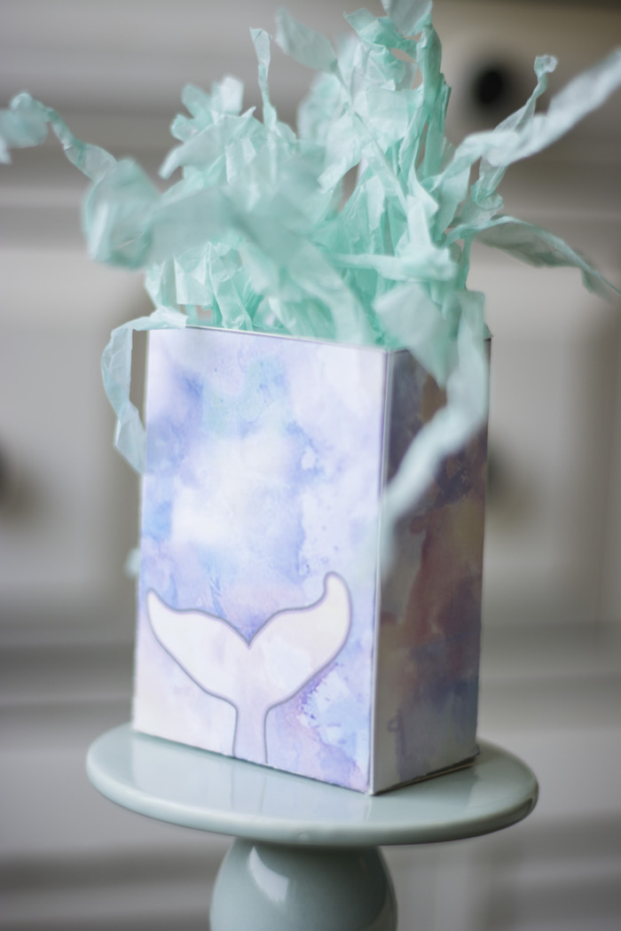 "Gift bag from a Magical Narwhal ""Unicorn of the Sea"" Birthday Party on Kara's Party Ideas 