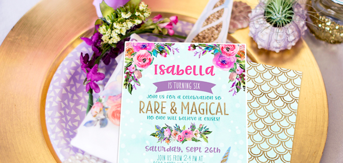 "Magical Narwhal ""Unicorn of the Sea"" Birthday Party on Kara's Party Ideas | KarasPartyIdeas.com (5)"