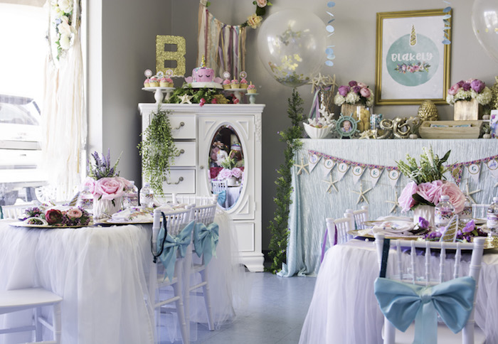 "Magical Narwhal ""Unicorn of the Sea"" Birthday Party on Kara's Party Ideas 