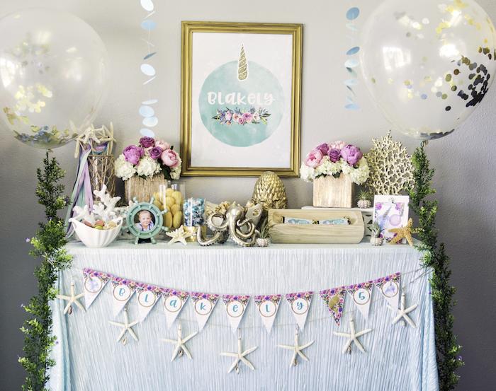 "Magical Narwhal ""Unicorn of the Sea"" Birthday Party on Kara's Party Ideas   KarasPartyIdeas.com (35)"
