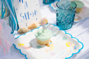 Mermaid cupcake from a Make a Splash Mermaid Birthday Party on Kara's Party Ideas | KarasPartyIdeas.com (15)
