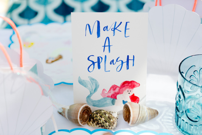 """Make s Splash"" print from a Make a Splash Mermaid Birthday Party on Kara's Party Ideas 