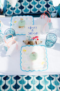 Place setting from a Make a Splash Mermaid Birthday Party on Kara's Party Ideas | KarasPartyIdeas.com (13)