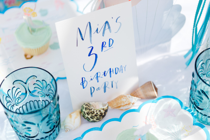 Watercolor party print + signage from a Make a Splash Mermaid Birthday Party on Kara's Party Ideas | KarasPartyIdeas.com (8)