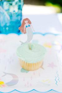 Mermaid cupcake from a Make a Splash Mermaid Birthday Party on Kara's Party Ideas | KarasPartyIdeas.com (18)