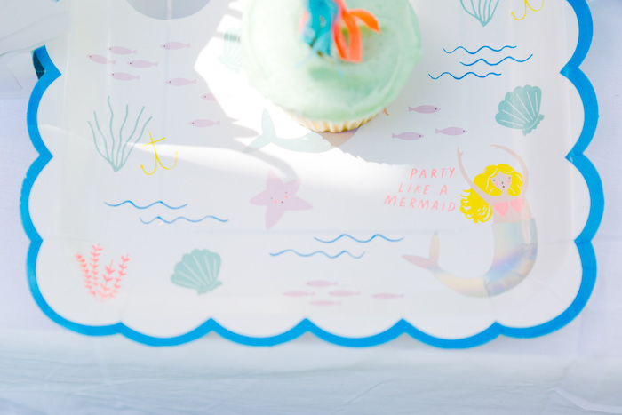 Party Like a Mermaid Plate from a Make a Splash Mermaid Birthday Party on Kara's Party Ideas | KarasPartyIdeas.com (17)