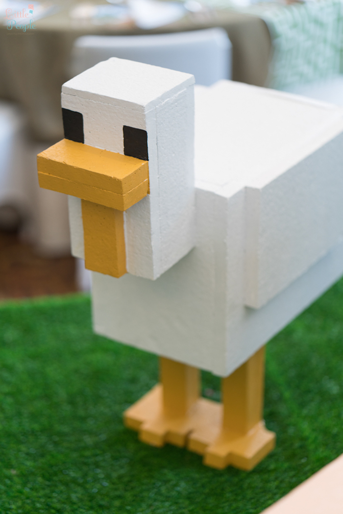 Minecraft duck from a Minecraft Birthday Party on Kara's Party Ideas | KarasPartyIdeas.com (35)