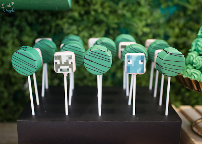 Oreo pops from a Minecraft Birthday Party on Kara's Party Ideas | KarasPartyIdeas.com (9)