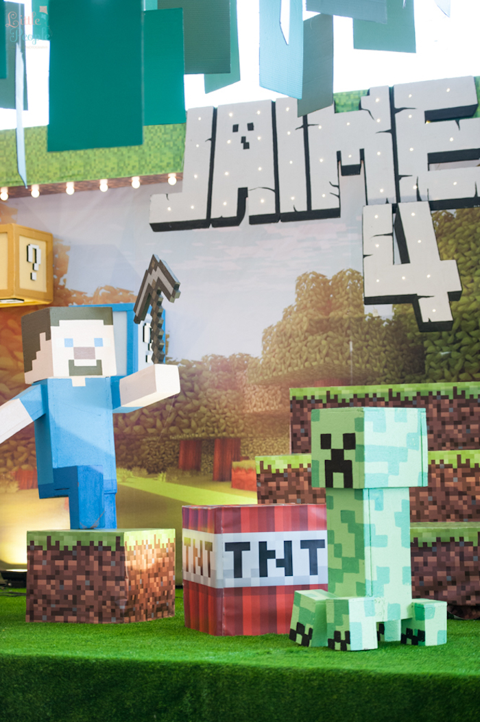 Kara's Party Ideas Jaime's Minecraft Birthday Party | Kara's