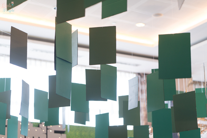 Hanging blocks from a Minecraft Birthday Party on Kara's Party Ideas   KarasPartyIdeas.com (40)