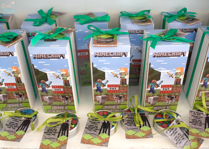 Minecraft party favors from a Minecraft Birthday Party on Kara's Party Ideas | KarasPartyIdeas.com (39)