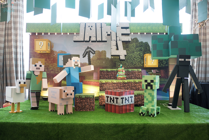 Minecraft Birthday Party on Kara's Party Ideas | KarasPartyIdeas.com (37)