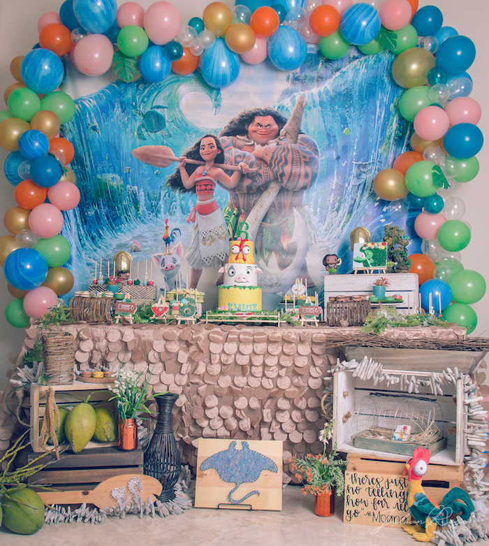 Inspired balloon birthday party ideas party ideas party printables - Kara S Party Ideas Perfect Moana Birthday Party Kara S