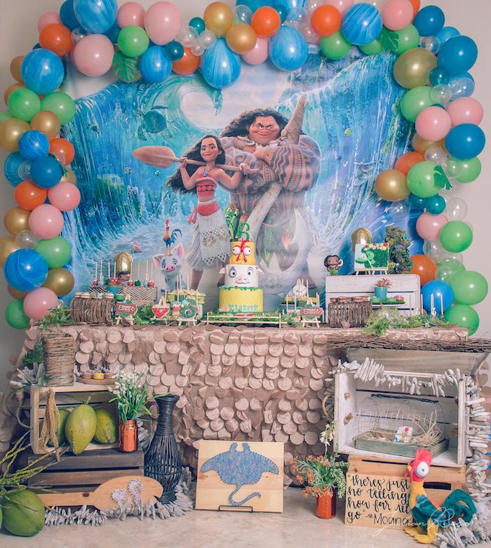 Moana Birthday Party on Kara's Party Ideas | KarasPartyIdeas.com (24)