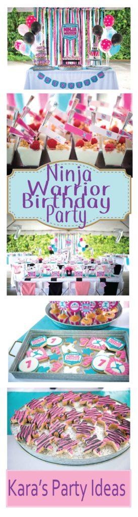 Ninja Warrior Birthday Party via Kara's Party Ideas
