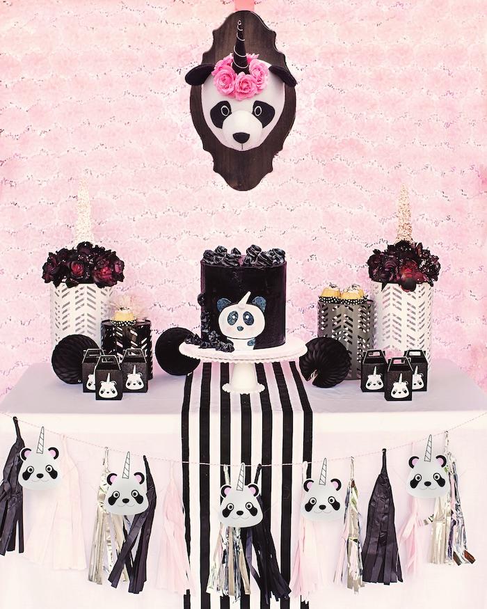 "Panda + Unicorn ""Pandacorn"" Birthday Party on Kara's Party Ideas   KarasPartyIdeas.com (13)"