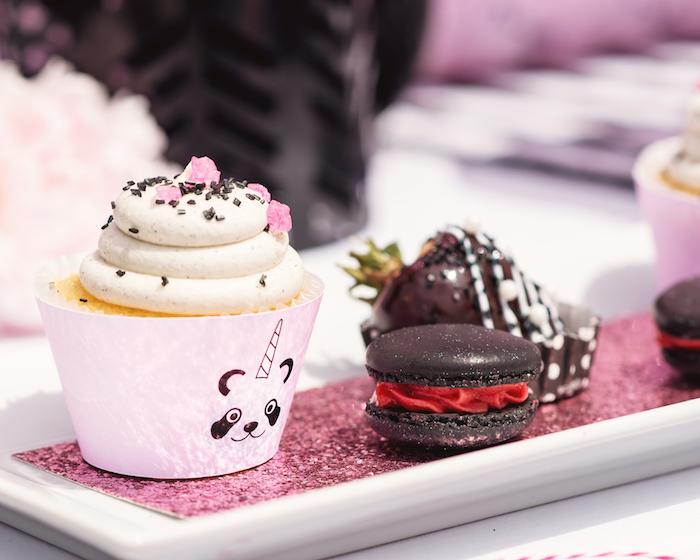 "Sweets from a Panda + Unicorn ""Pandacorn"" Birthday Party on Kara's Party Ideas   KarasPartyIdeas.com (17)"