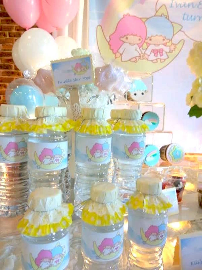 Water bottles from a Pastel Little Star Birthday Party on Kara's Party Ideas | KarasPartyIdeas.com (14)