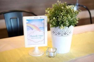 Guest table signage + decor from a Pastel Little Star Birthday Party on Kara's Party Ideas | KarasPartyIdeas.com (13)