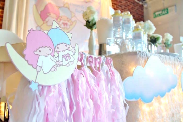 Highchair bunting from a Pastel Little Star Birthday Party on Kara's Party Ideas | KarasPartyIdeas.com (12)