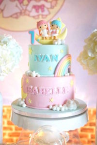 Cake from a Pastel Little Star Birthday Party on Kara's Party Ideas | KarasPartyIdeas.com (10)