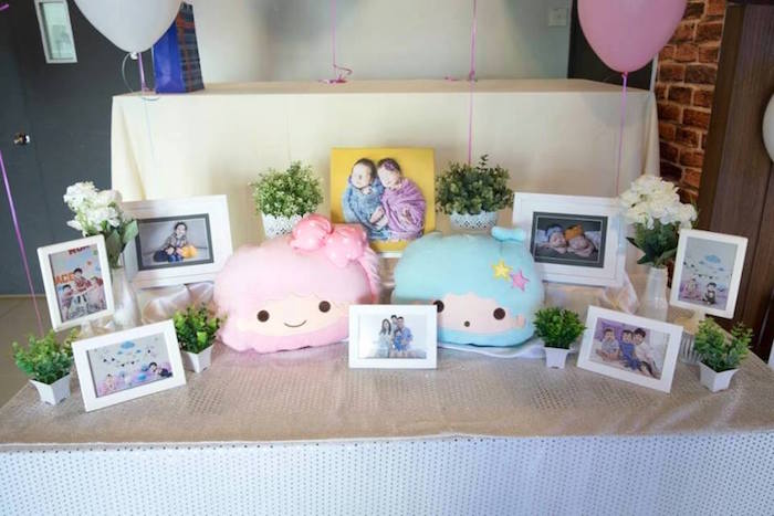 Highlight table from a Pastel Little Star Birthday Party on Kara's Party Ideas | KarasPartyIdeas.com (9)