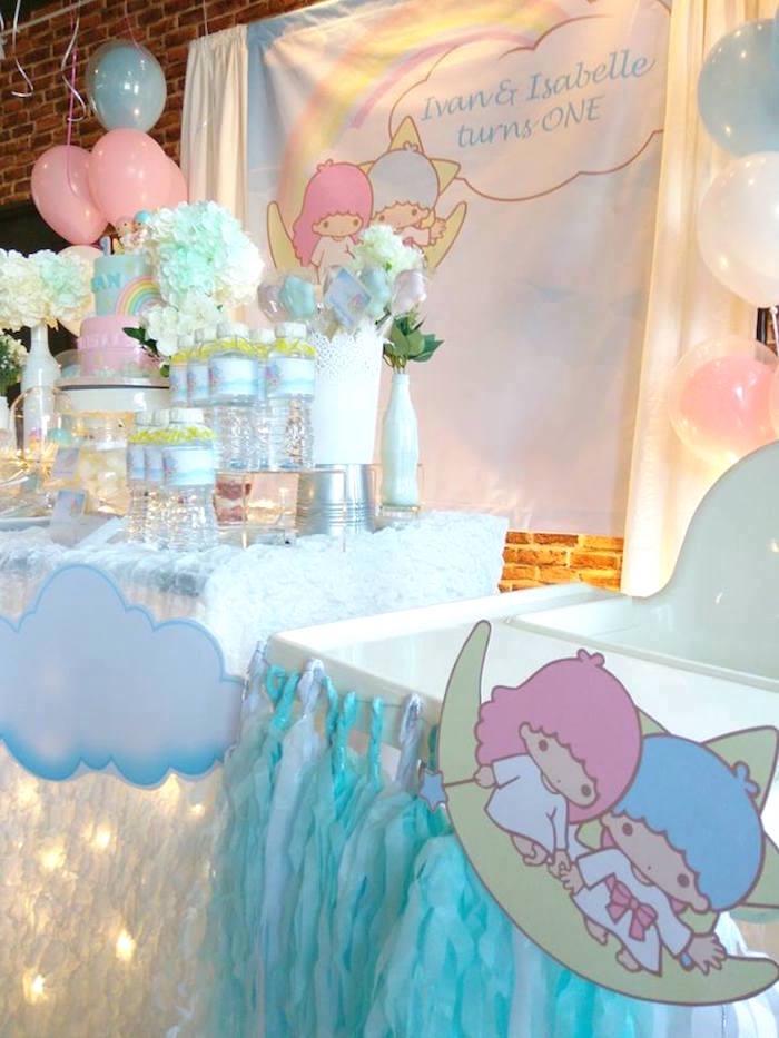 Pastel Little Star Birthday Party on Kara's Party Ideas | KarasPartyIdeas.com (8)