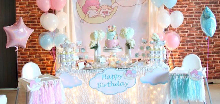 Pastel Little Star Birthday Party on Kara's Party Ideas | KarasPartyIdeas.com (3)