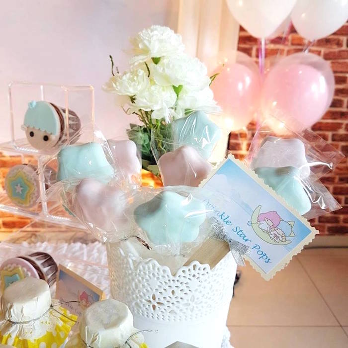 Twinkle Star Cake Pops from a Pastel Little Star Birthday Party on Kara's Party Ideas | KarasPartyIdeas.com (22)