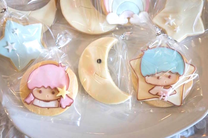 Cookies from a Pastel Little Star Birthday Party on Kara's Party Ideas | KarasPartyIdeas.com (20)
